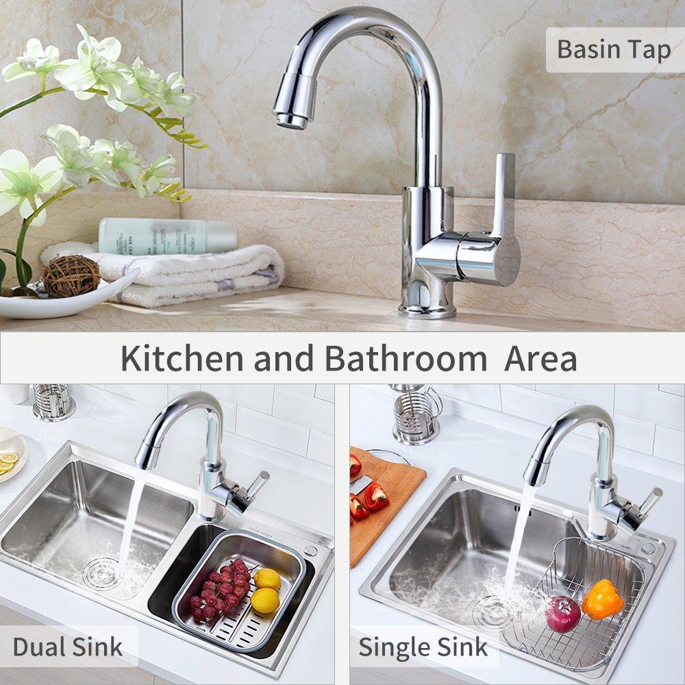 Homelody 360° Drehbar Wasserhahn Küche Mischbatterie