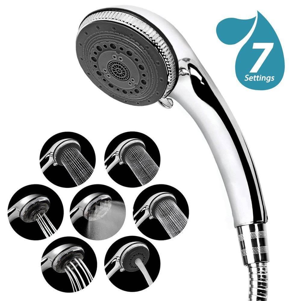 Duschkopf, 7 Strahlarten Hochdruck Wassersparend Handbrause