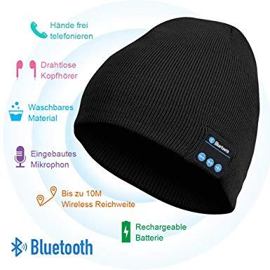 HANPURE Bluetooth Mütze mit Wireless Kopfhörer