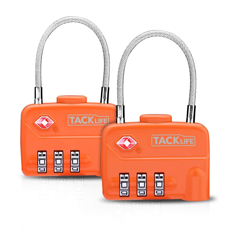 TSA Zahlenschloss, Tacklife HCL1A Gepäckschlösser 3-Stellige TSA Zugelassene Vorhängeschloss