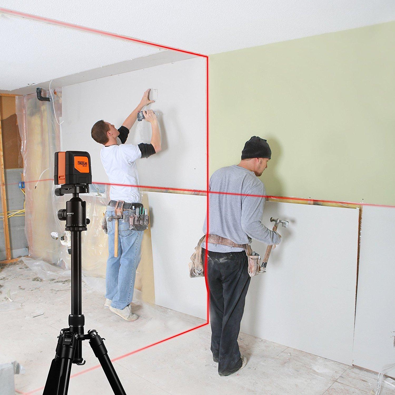 Tacklife SC L01 Klassischer Kreuzlinien- Laser mit Messbereich 10M und Neigungsfunktion