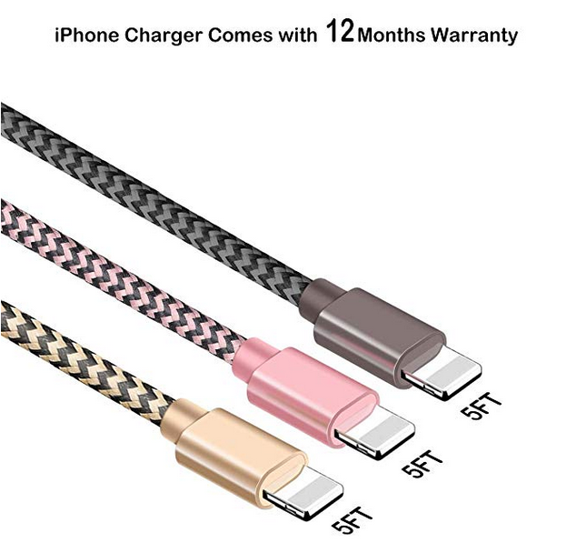 40% Rabatte 3er Pack(3 * 1.5M) Nylon iPhone Datenkabel