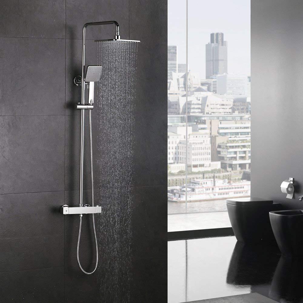 Homelody Duschsystem mit Thermostat Regendusche