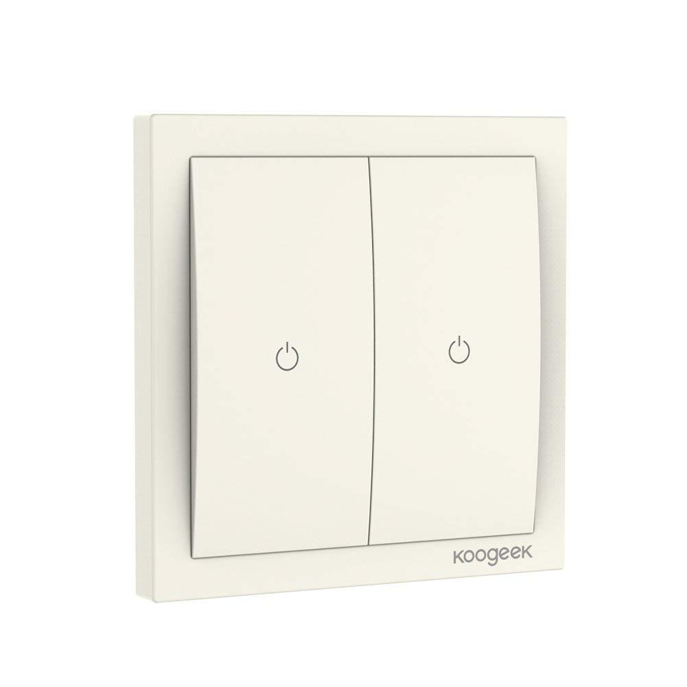 Koogeek WiFi Smart Lichtschalter 220~240V funktioniert mit Apple HomeKit Unterstützung Siri Fernbedienung