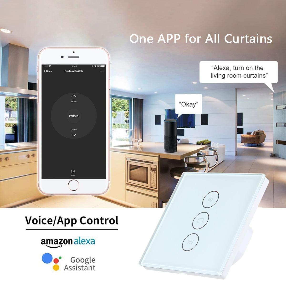 [UPGRADED] Rolladen Zeitschaltuhr – Teepao Jalousien Schalter Wifi Kompatibel Mit Alexa Echo Und Google Assistant
