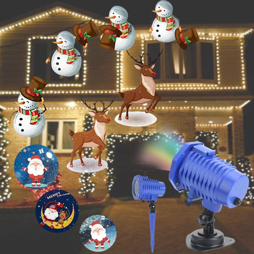 Weihnachtsbeleuchtung LED Projektor Lichter innen/außen,Weihnachten LED Dekoration Effektlicht Wasserdicht IP65