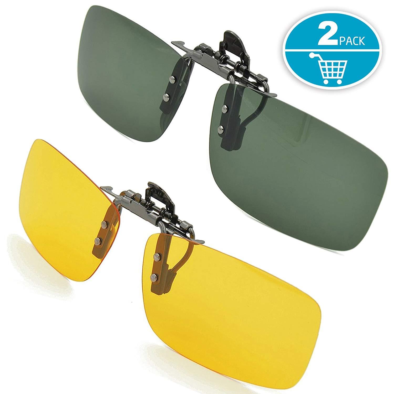 Splaks Sonnenbrille Aufsatz, 2-Stück Clip
