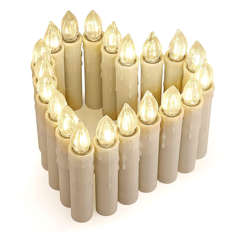 48% Rabatt 20er LED Kerzen [Fernbedienung, Timer und Batterien]