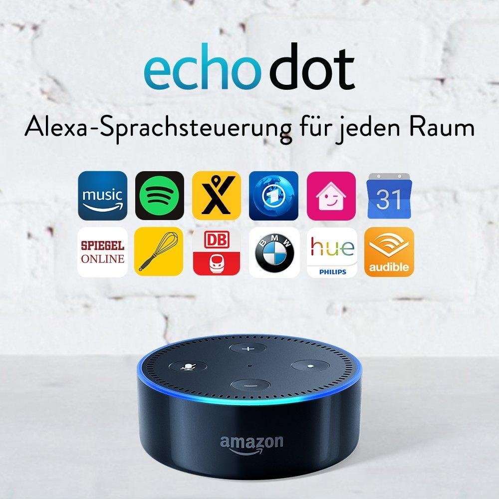 Amazon Echo Dot (2. Gen.) Intelligenter Lautsprecher mit Alexa