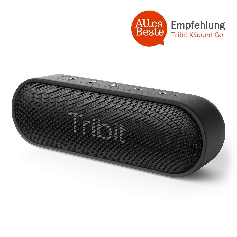 Tribit BTS20 Bluetooth Lautsprecher IPX7 Wasserdicht,12W Kabelloser Lautsprecher mit Bass+ für 24.99 €