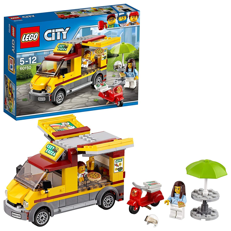 LEGO City 60150 – Pizzawagen, Bauspielzeug