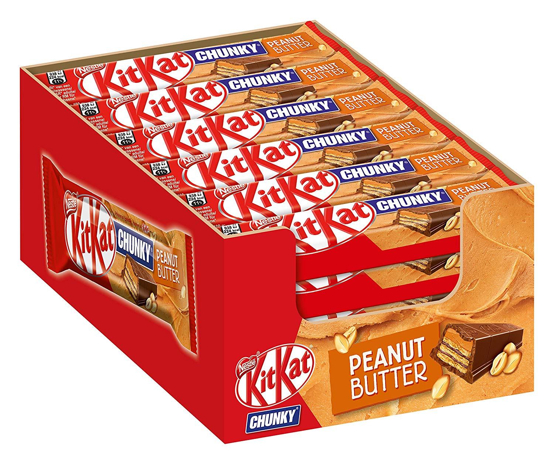 Nestlé KitKat ChunKy Peanut Butter, Schokoriegel in Milchschokolade