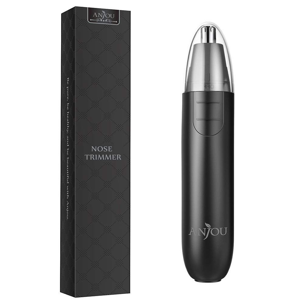 Anjou Nasenhaartrimmer Nasen Haarentferner Ohrhaarschneider mit Batteriebetrieben für 7.24€