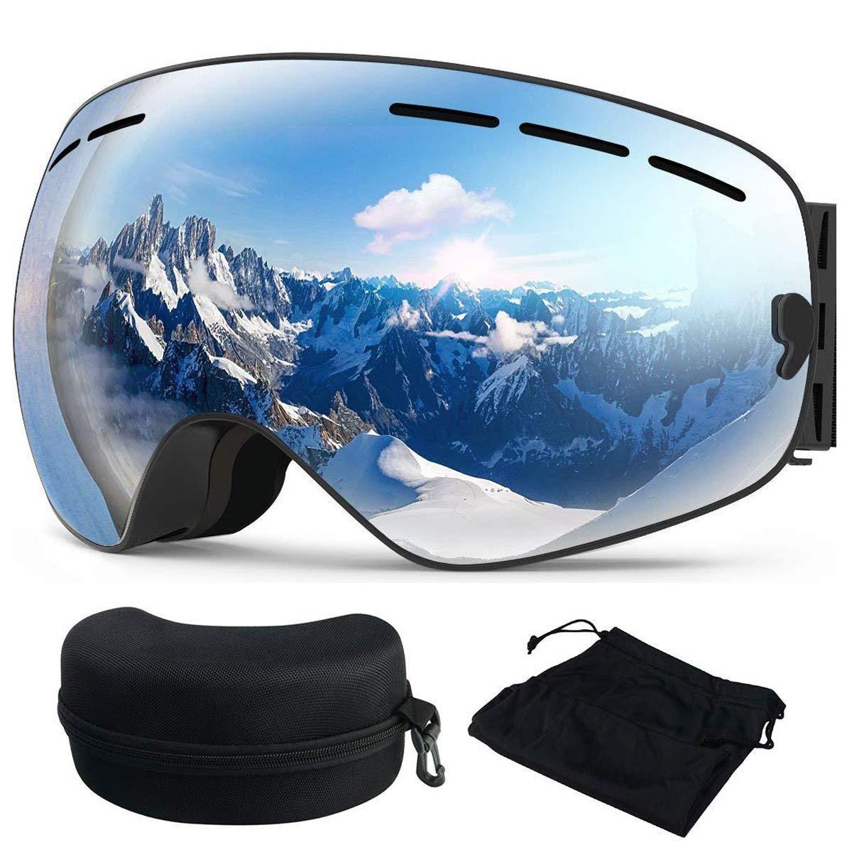 OTBBA Skibrille, Ski Snowboardbrille Brillenträger Schneebrille Verspiegelt für 25,99€
