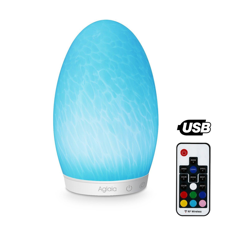 Aglaia Farbwechsel Lampe Glas Wiederaufladbare, Touch Dimmbare LED für 16.99 €