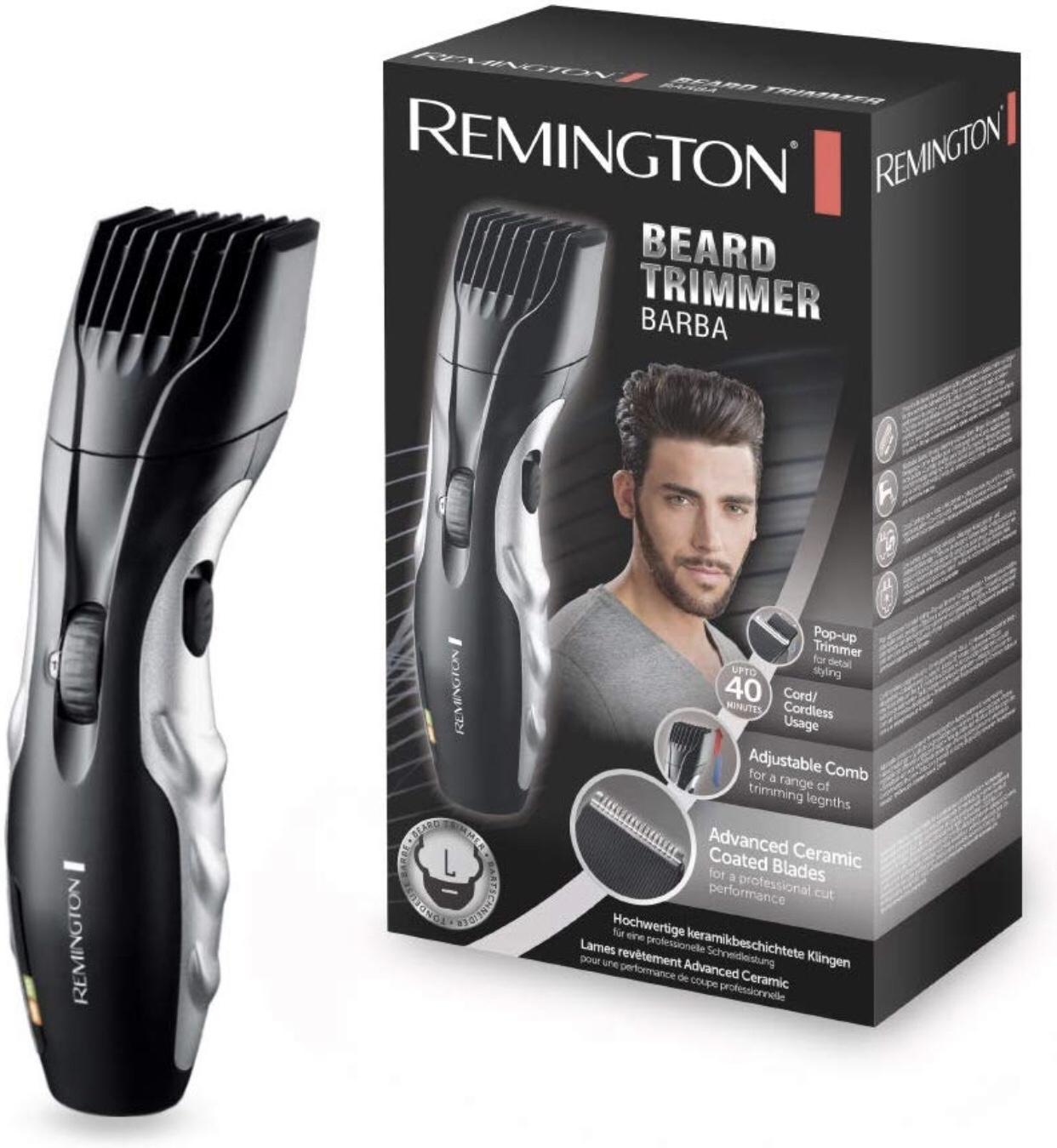 Remington MB320C Bartschneider-Set Barba, keramikbeschichtete Klingen, schwarz/grau