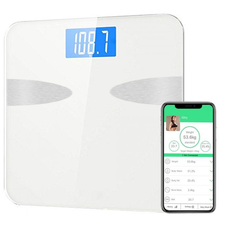Digitale Körperfettwaage,182.5KG,Weiß