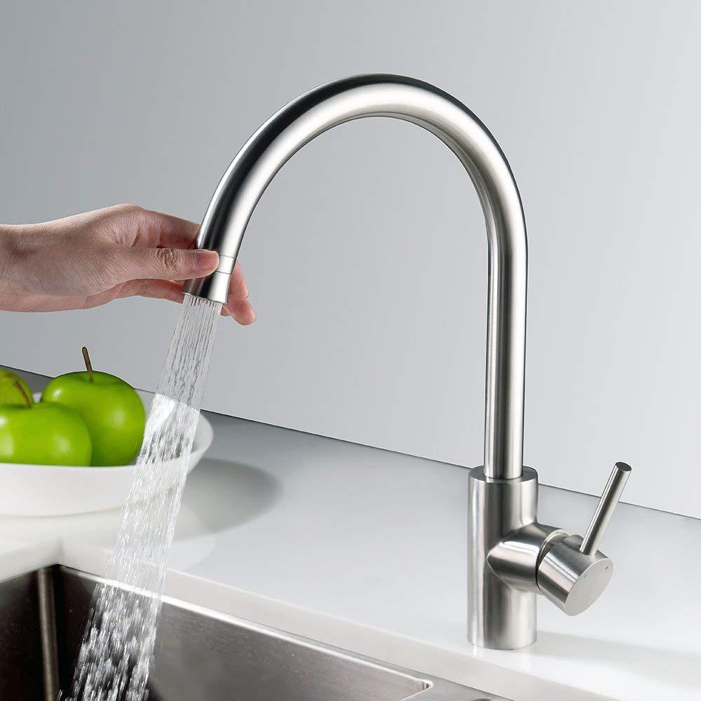 Homelody Wasserhahn Küche 360° drehbar Armatur Spültisch Küchenarmatur