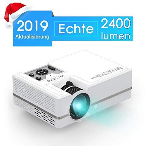 WONNIE Mini LED Beamer, Echte 2400 Lumen, Video Projektor mit 1080P Ful lHD Unterstützung für 49,67€