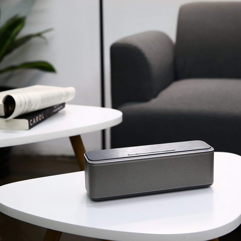 AUKEY Bluetooth Lautsprecher 16W Dual-Treiber un Duale Bass-Radiatoren verstärkter Bass mit 12-Stunden Spielzeit für 29,99€