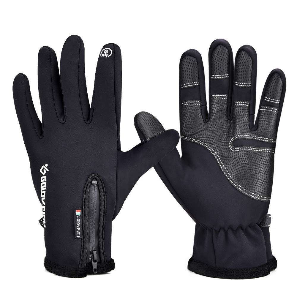 BASEIN Fahrradhandschuhe, Touchscreen Handschuhe mit Winddicht und wasserdicht Funktion