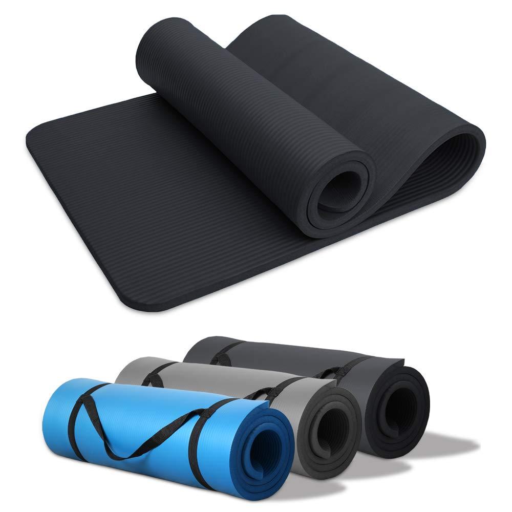 Hengda Pilates Yogamatte Gymnastikmatte NBR Rutschfeste Fitnessmatte