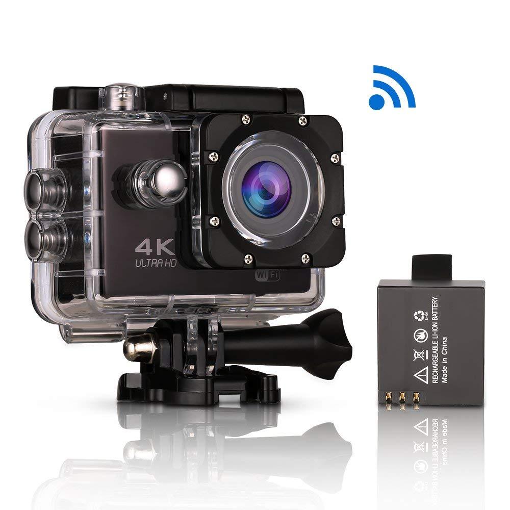 Action Cam 4K Helmkamera WiFi Kamera Wasserdicht Aktionkameras