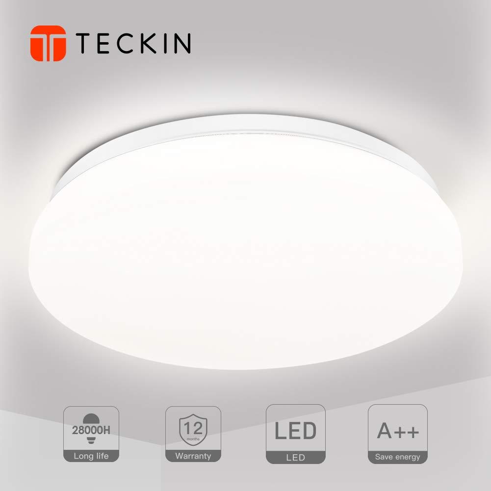 Deckenlampe 24W, TECKIN LED Deckenleuchte für Bürodeckenleuchte, Wohnzimmer, Flur