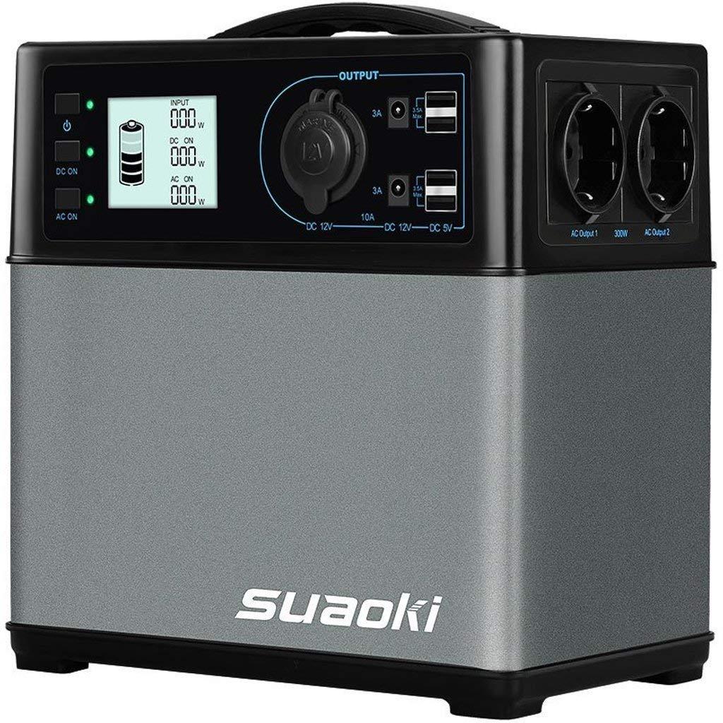 SUAOKI 400Wh Mobiler Energiespeicher, Solar Generator/AC Steckdose/Autos