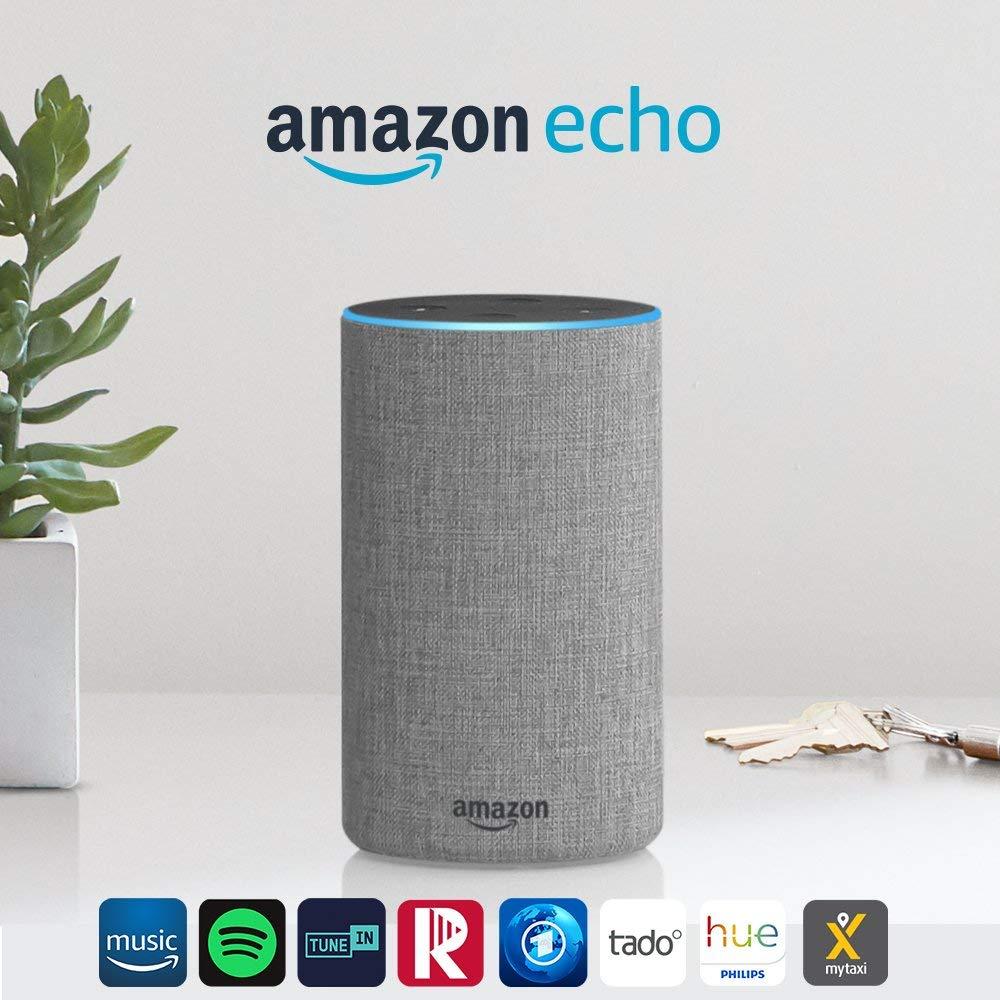 Amazon Echo (2. Gen.), Intelligenter Lautsprecher mit Alexa