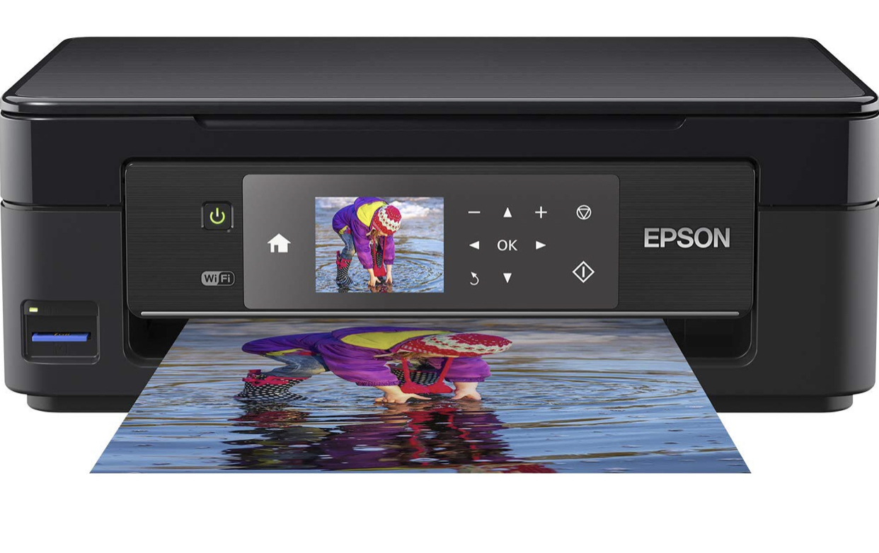 Epson Expression Home XP-452 3-in-1 Tintenstrahl-Multifunktionsgerät Drucker (Scanner, Kopierer, WiFi 6,8 cm Display, Einzelpatronen, 4 Farben, DIN A4) schwarz
