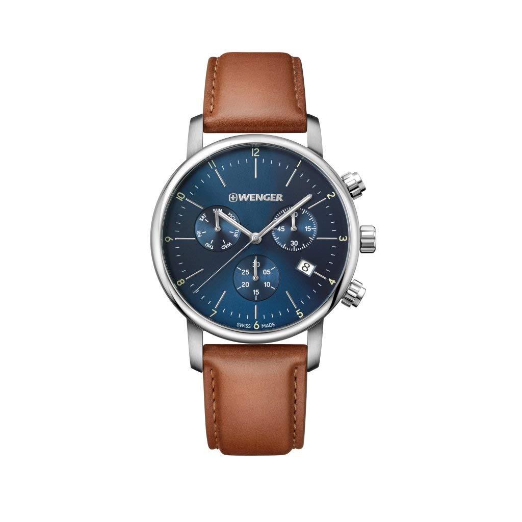 Wenger Herren Urban Classic Chrono Leder Armbanduhr