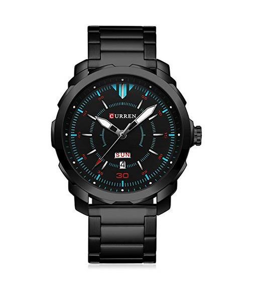 Curren Herren Quartz Uhren,Casual Analoge Quartzuhr, Multifunktionale Militär Sport Armbanduhr Männer, Wasserdicht Lederarmband