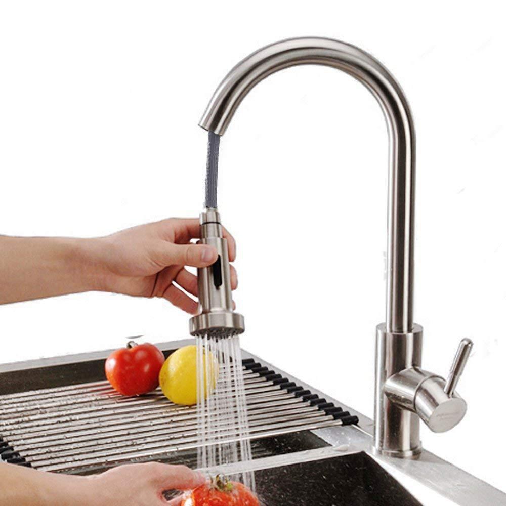 Homelody 360° drehbar Wasserhahn Küche ausziehbar Armatur Mischbatterie Einhebelmischer Spültischarmatur Küchenarmatur mit brause Einhand Küchenspüle