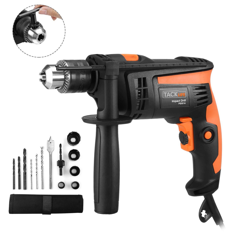 Tacklife Schlagbohrmaschine 2800 RPM Hammer & Bohren 2 Funktionen in 1 für 24,99€