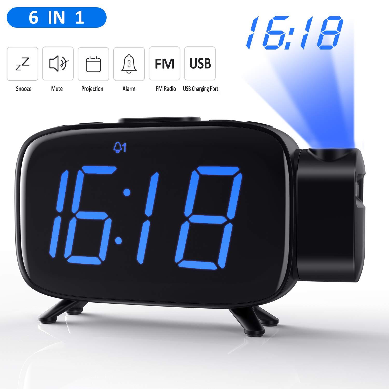 Wecker Digital, Projection Wecker, Digitaluhr, Alarm Clock