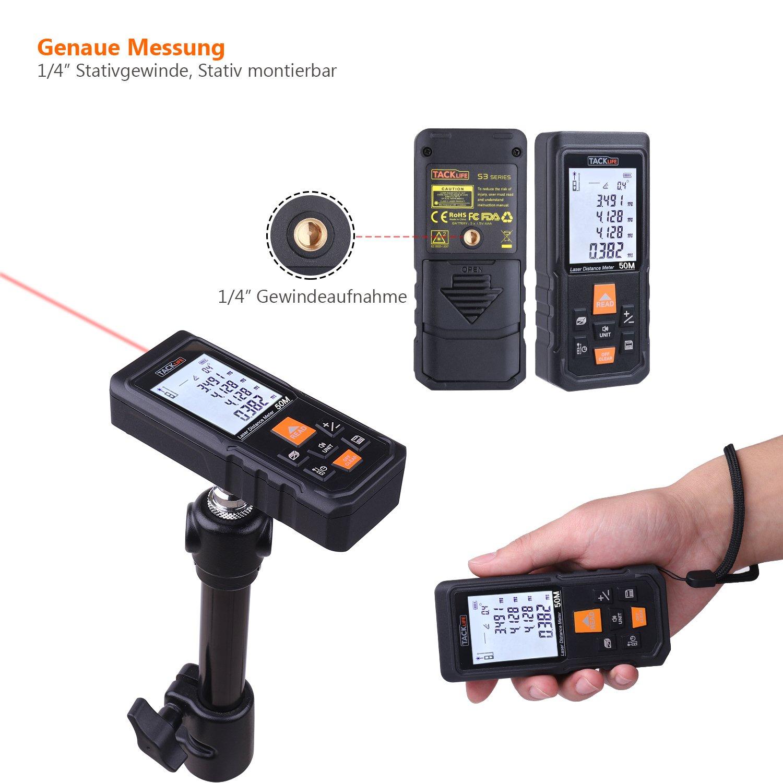 Tacklife S3-50 Laser Entfernungsmesser Distanzmessgerät