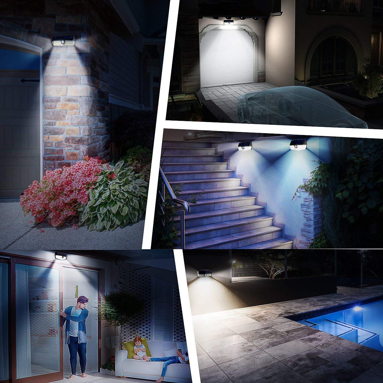 Mpow 30 LED Solarleuchte mit Bewegungsmelder IP6+ Wasserdicht