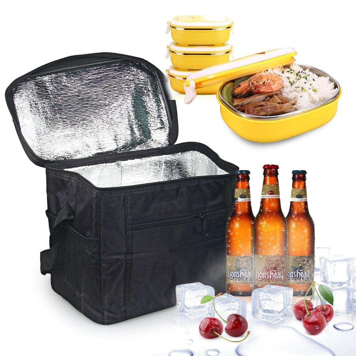 LEBEXY Kühltasche Eistasche Picknicktasche Lunch Tasche faltbar