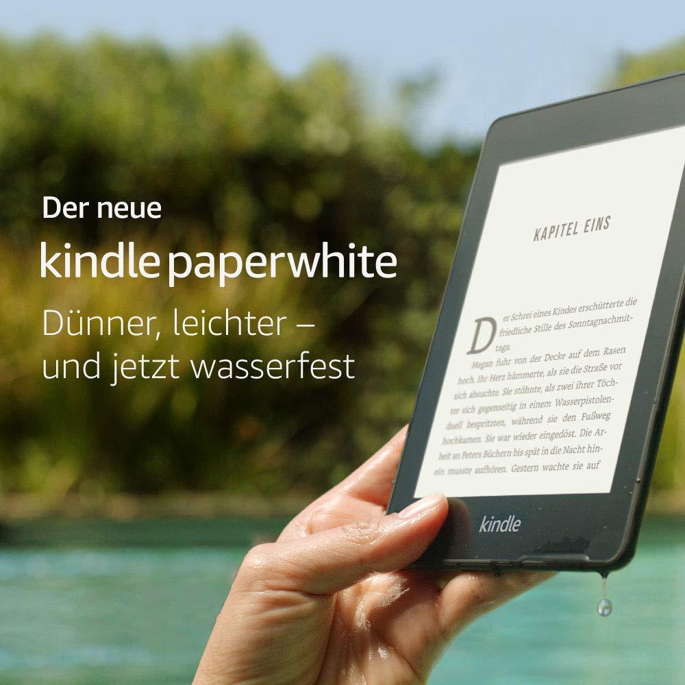 Kindle Paperwhite, jetzt wasserfest und mit doppeltem Speicherplatz