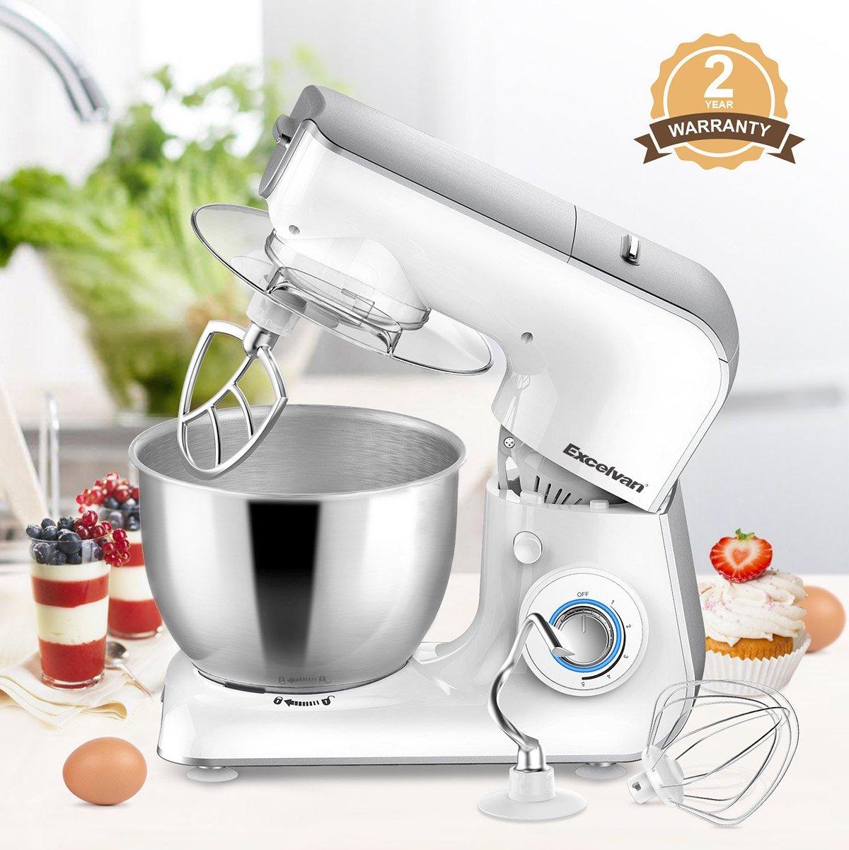 1000W Küchenmaschine mit 4L Edelstahl-Rührschüssel