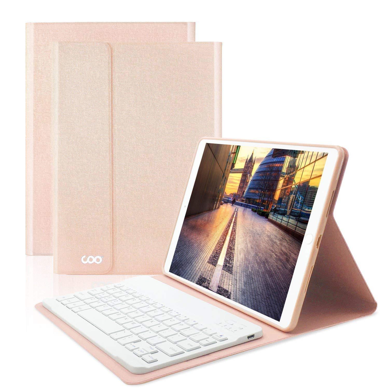 COO iPad Hülle Tastatur QWERTZ für 9,7 Zoll iPad 2018/2017