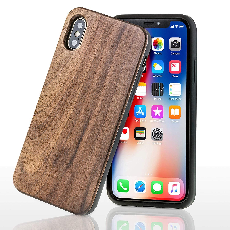 karlaser iPhone X/Xs Hülle aus echtem Holz – schützt Dein Display