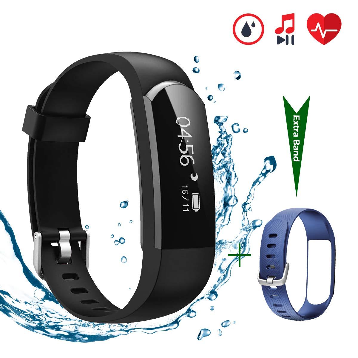 CHEREEKI Fitness Tracker [Verbesserte Version] mit Herzfrequenzmesser