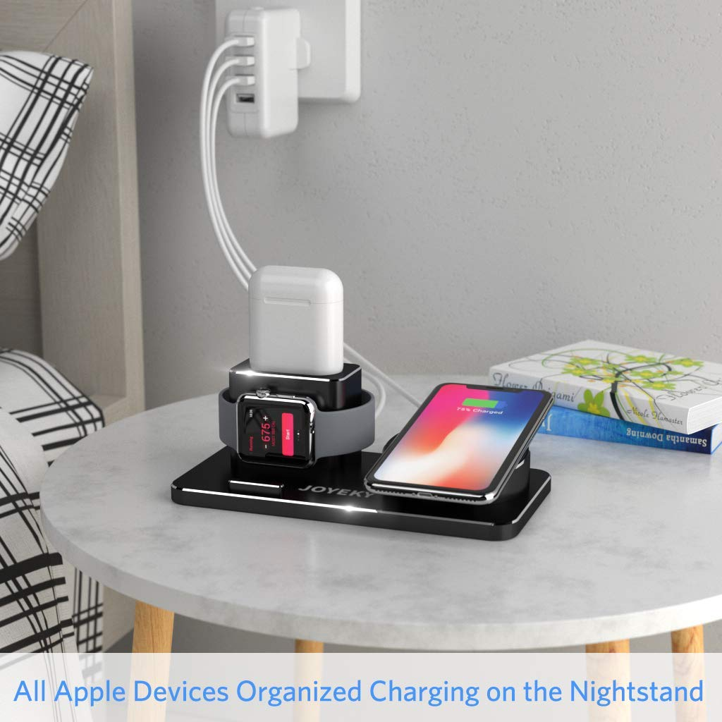 25 99 joyeky apple watch wireless charger 10w qi. Black Bedroom Furniture Sets. Home Design Ideas