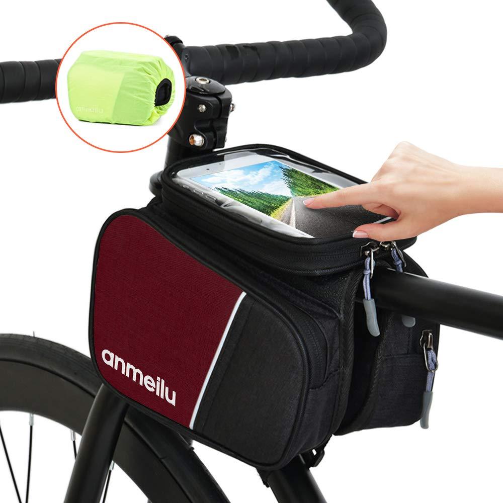 Lixada Fahrrad Lenkertasche Rahmentaschen Handyhalterung Touchscreen