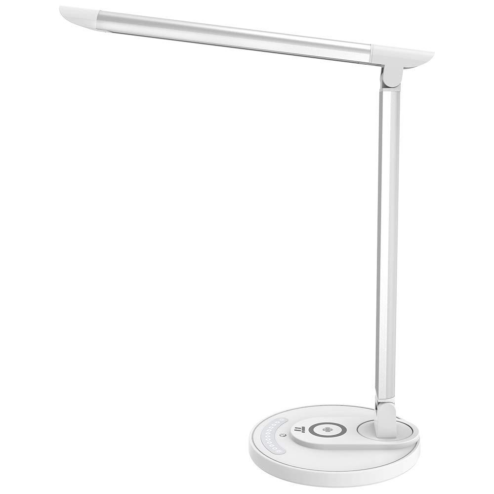 LED Schreibtischlampe TaoTronics Tischlampe mit kabelloser Ladestation
