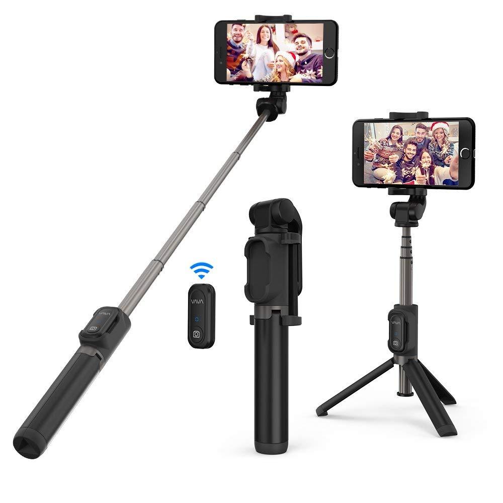 VAVA Bluetooth Selfie Stick Stativ Selfie-Stange mit Bluetooth-Fernauslöser