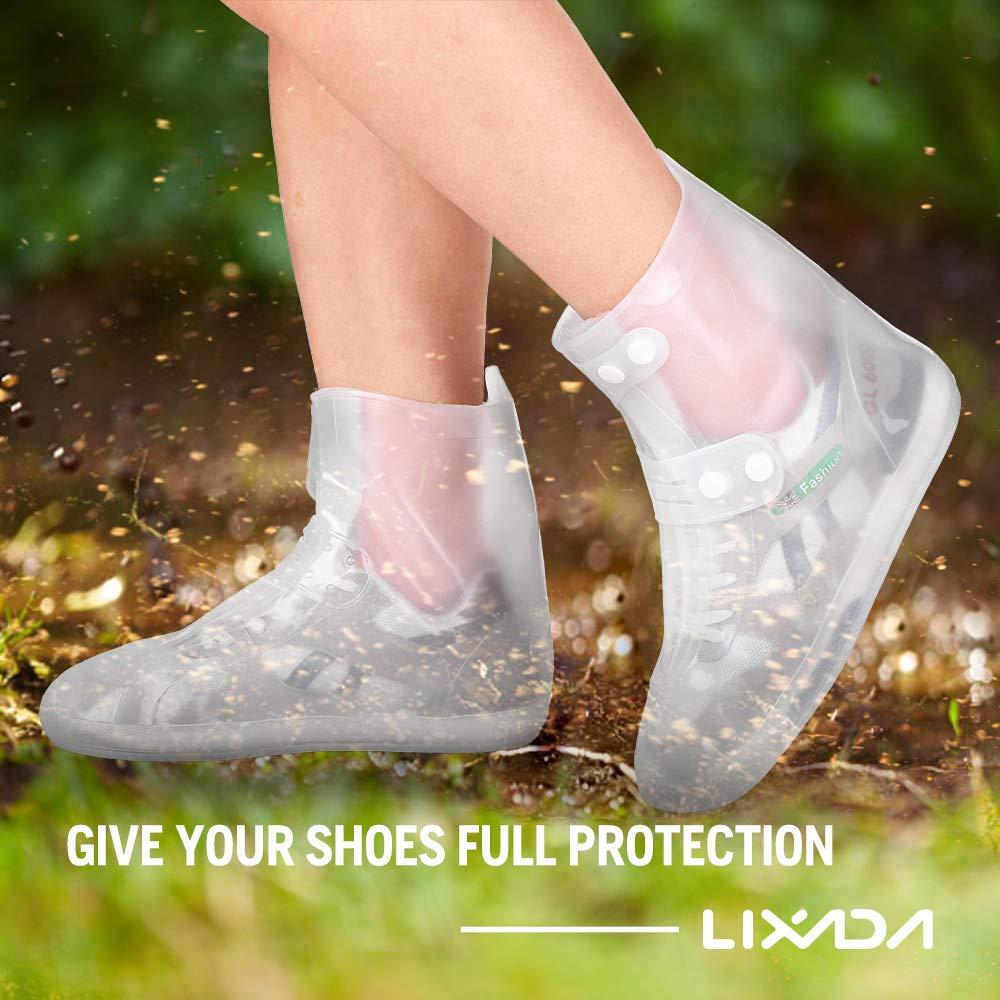 Lixada Überschuh Wasserdichte Schuhe Abdeckung – Rutschfester Regenstiefel – Outdoor Shoes Cover – Mehrweg Regenüberschuhe