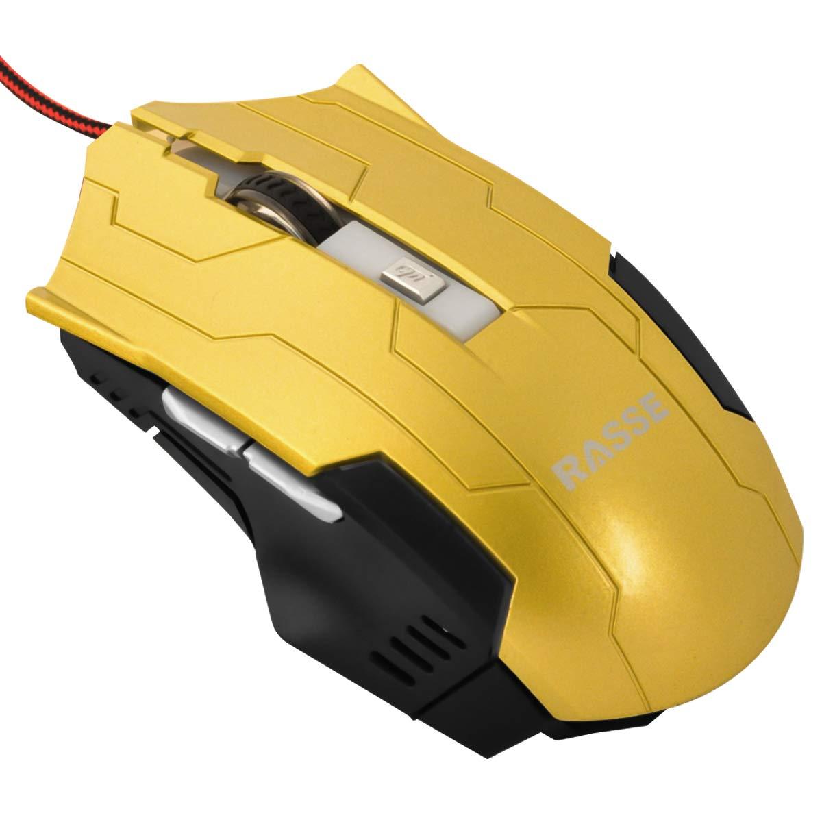 Rasse Büromaus mit 4 DPI Einstellstufen Kabelgebundene Gaming Maus